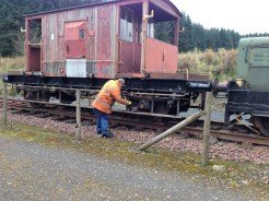 The 20t Brake Van recieves some more paint on the chassis