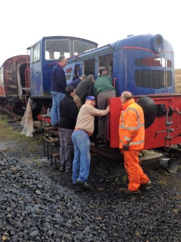 There must be something interesting in there! The team discuss work on the Fowler.