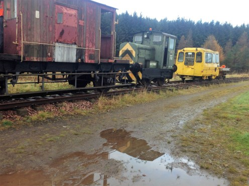 Some of the stock at the south end of the line while PWay materials were being collected.