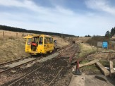 Looking north from the crossing with packing and ballasting taking place