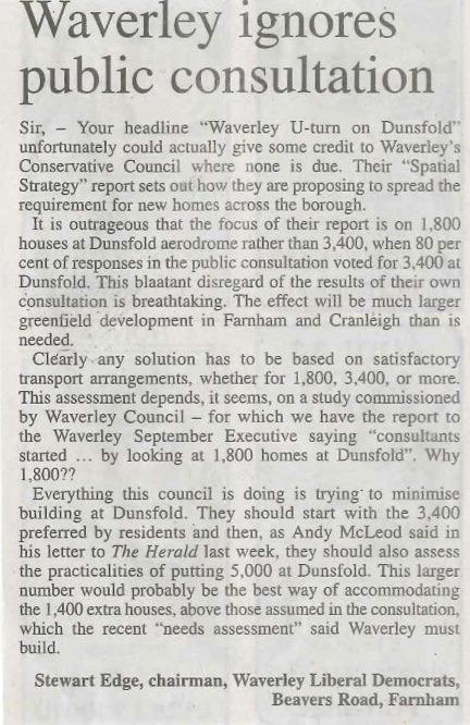 15.11.19 - Waverley ignores public consultation copy