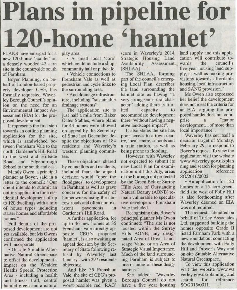 16.02.18 - Plans in pipeline for 120-home 'hamlet'.jpg