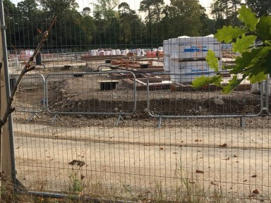 My my!  – What high manhole covers the BB's are building in Cranleigh.