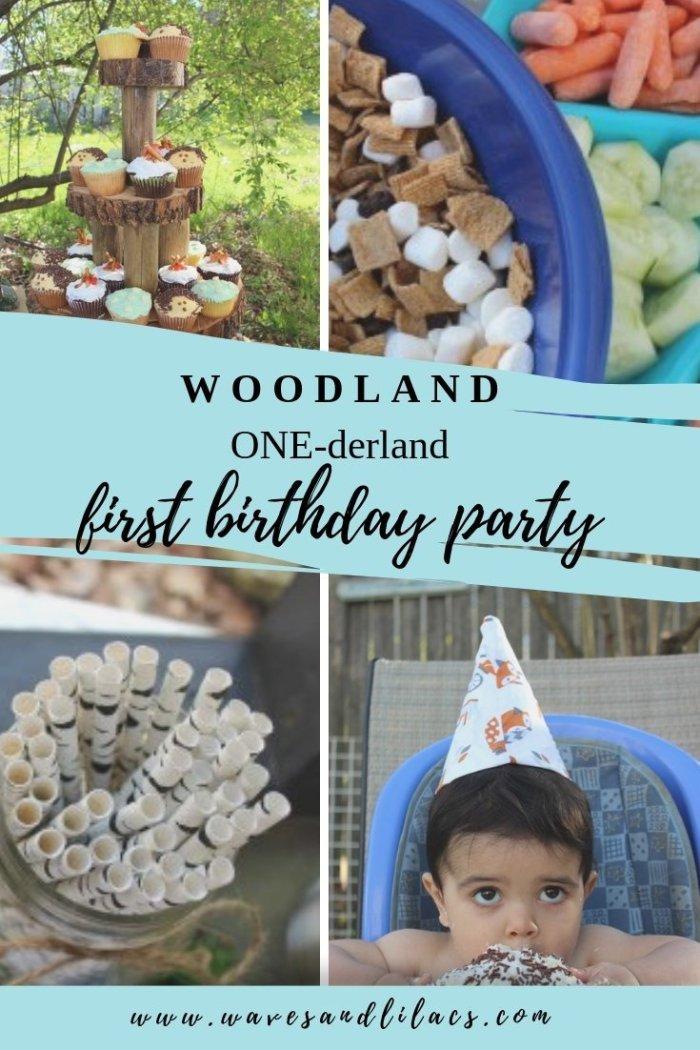 woodland wonderland onederland first birthday party