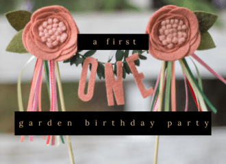 a first garden birthday party diy