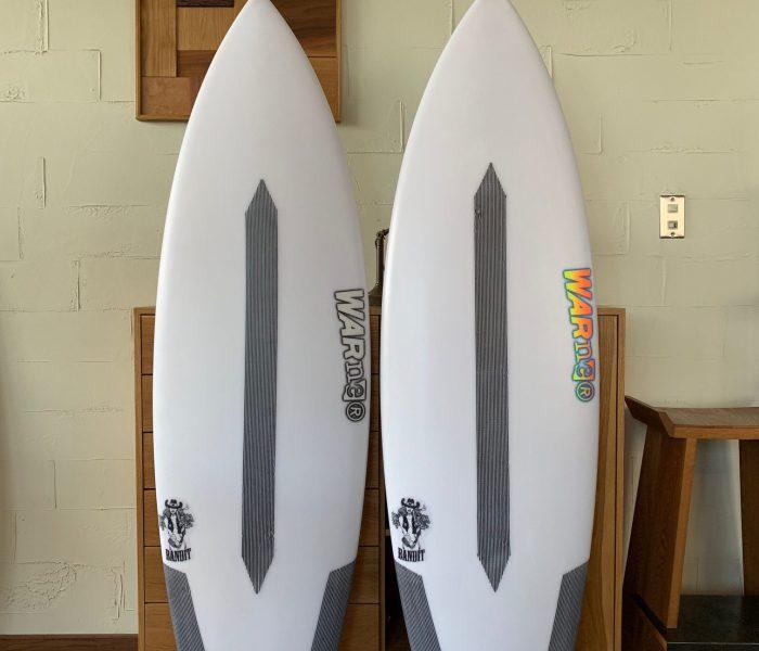 WARNER SURFBOARDS ストックボード5本入荷