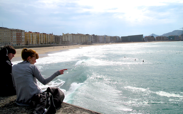 Surfing San Sebastian Spain