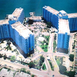 Flamingo 1500 Bay Rd, 1990s. Before the center tower was built.