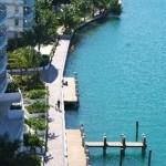 Baywalk next to the Capri Condominium