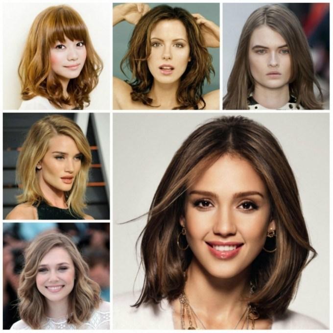 Medium Haircut For Oval Faces 2017 Shoulder Length Hairstyles For in Best Haircut For Oval Face