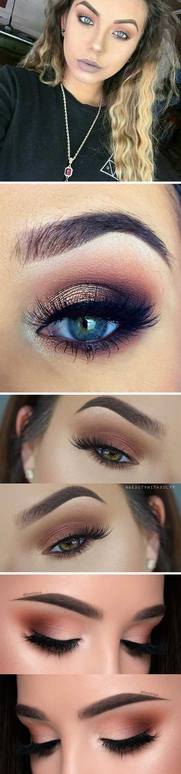 what color eyeshadow for blue eyes and dark brown hair