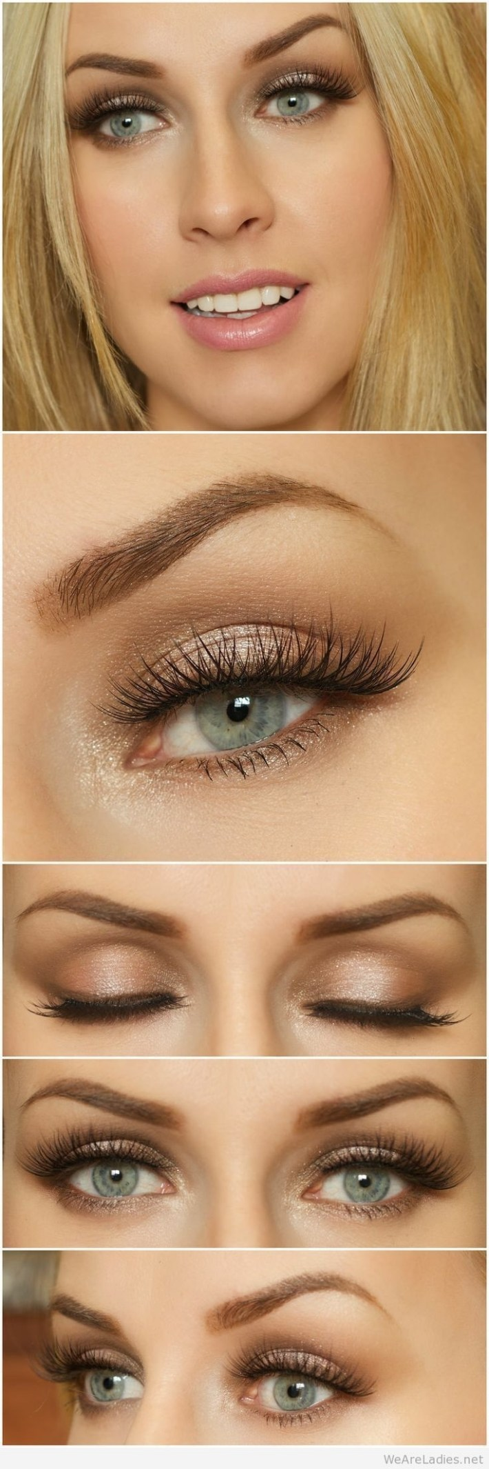 makeup colors for blue eyes and dirty blonde hair - wavy haircut