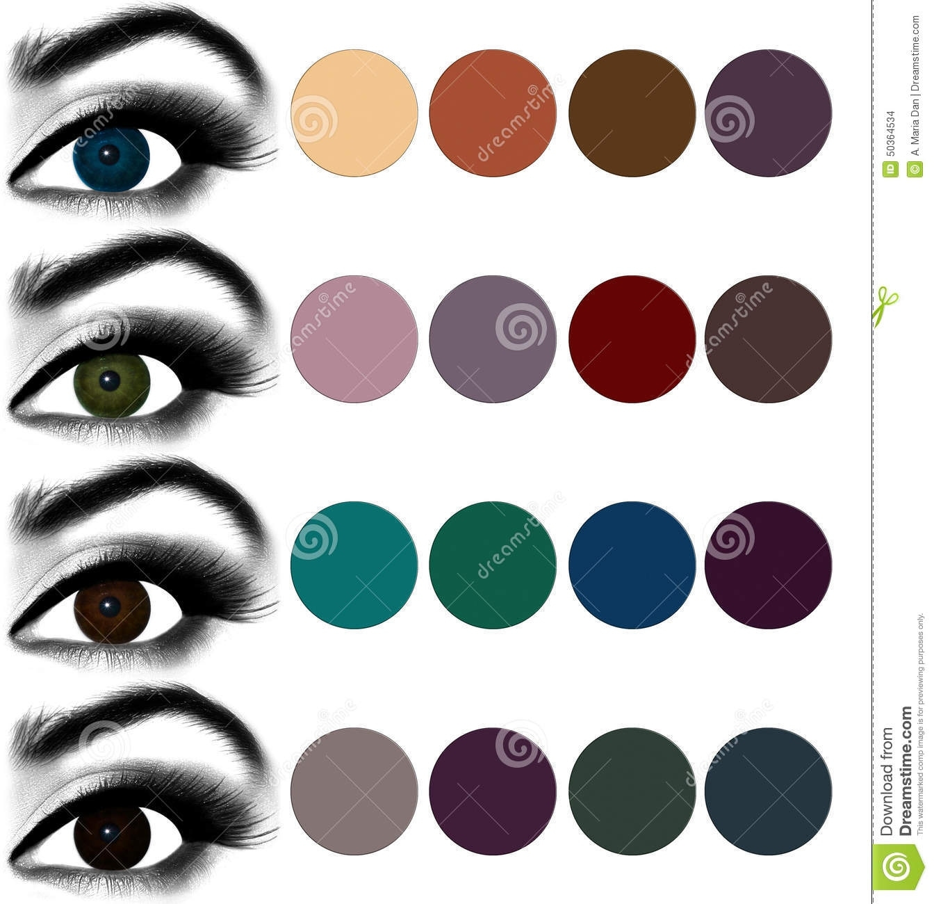 best eyeshadow colours for green eyes - wavy haircut