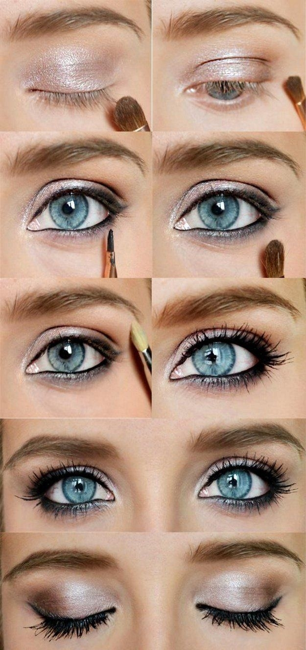 eyeshadow tips for blue gray eyes - wavy haircut