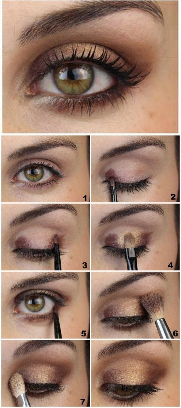 what color eye makeup for hazel green eyes - wavy haircut