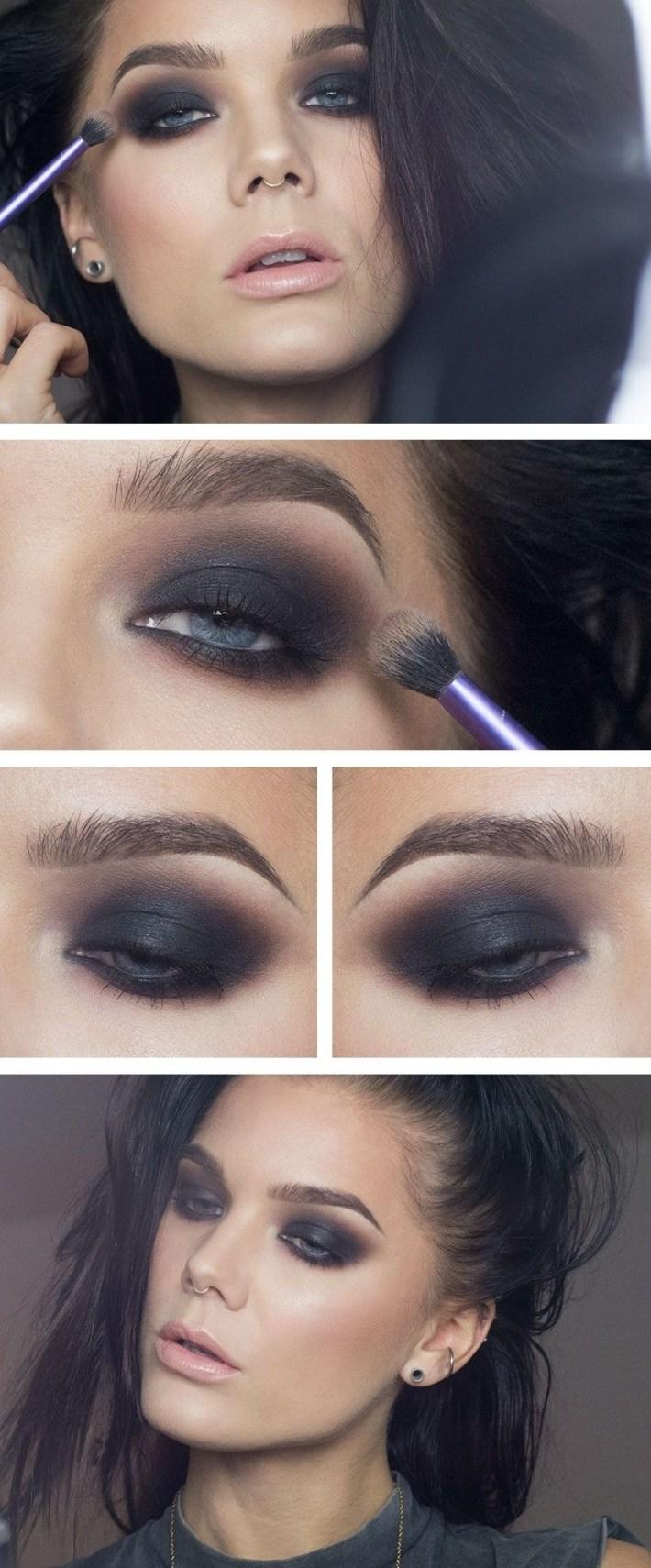 makeup ideas for dark brown eyes and black hair – wavy haircut