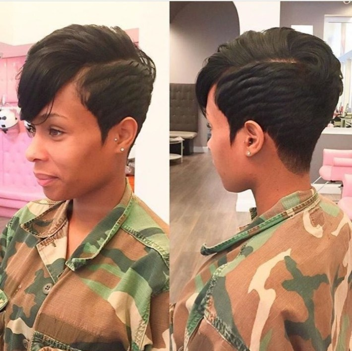 18 Stunning Short Hairstyles For Black Women - Haircuts & Hairstyles with How Do Women With Short Hair In The Military