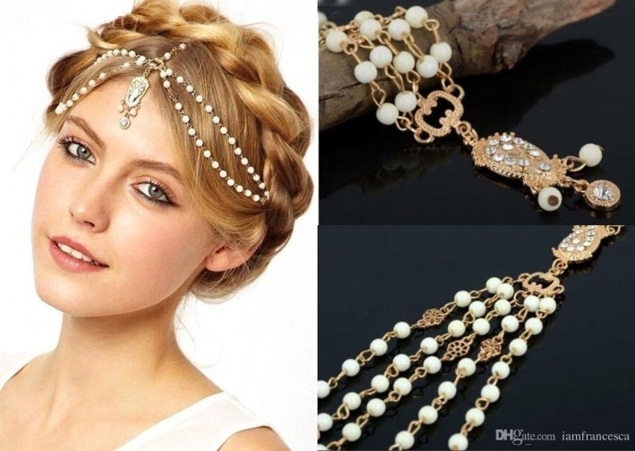 2017 Bohemian Wedding Bridal Hair Accessories Chains For Women Boho pertaining to Indian Bridal Hair Accessories List