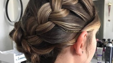 37 Inspiring Prom Updos For Long Hair For 2019 #inspo throughout Up Dos For Long Hair And Bangs