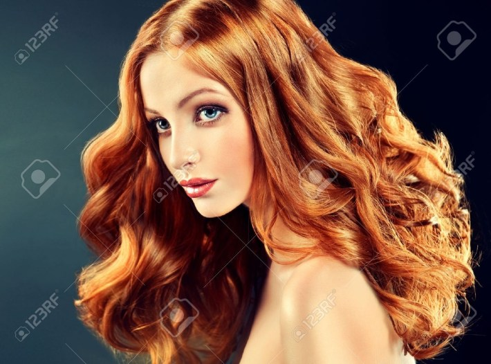 Beautiful Model With Long Curly Red Hair . Styling Hairstyles with regard to Ling Curly Red Hair Styles