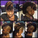 Braided Mohawk W/ Jerry Curl Sew In   Sew Ins/quick Weaves In 2019 intended for Braided Mohawk With Sew In Weave