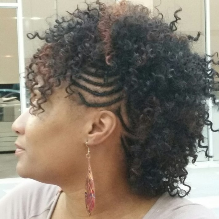Braided Mohawk With Sew-In Weave. - Yelp within Braided Mohawk With Sew In Weave