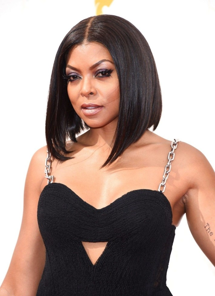Brunnette Celebrities And Their Bob Cuts - Taraji P Henson | Hair in Taraji P Henson Bob Cut