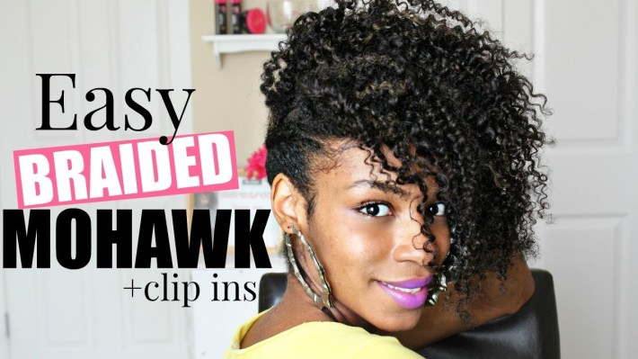 Easy Braided Mohawk ▻Natural Hair - Youtube pertaining to What Is The Best Weave To Use For Mohawk Style