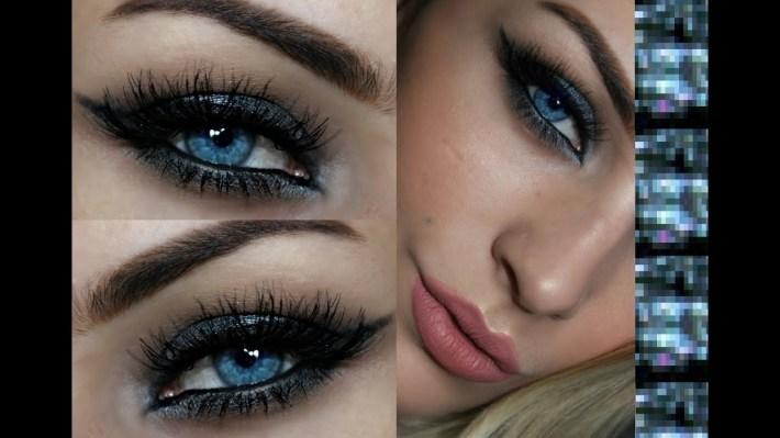 Eyeshadow For Blue Eyes | Silver Smokey Eye Tutorial - Youtube pertaining to How To Apply Smokey Eyeshadow For Blue Eyes