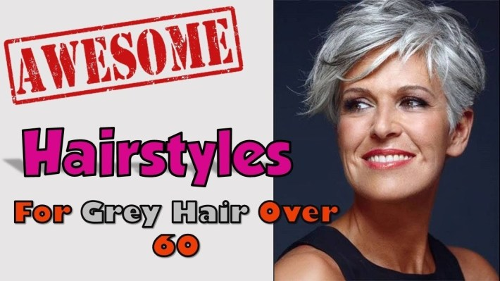 Hairstyles For Grey Hair Over 60 - Youtube pertaining to Thin Grey Hair What Is The Best Haircut