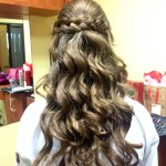 Half Up Half Down W/ Braid This Is My Sisters Hair For A Dance At inside Easy Hairdo For Middle School Dance