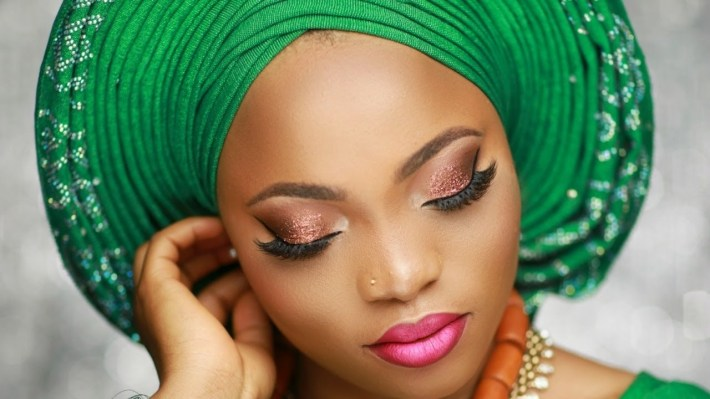Nigerian Bridal Makeup Tutorial / Pleated Gele. - Youtube intended for Pictures Of Nigerian Bridal Makeup