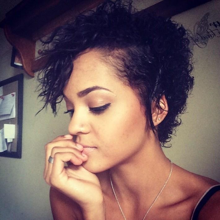 Short Cut For Natural Hair #biracial #curly #cut #mixed #natural throughout Mixed Girls Hair Cut Pictures
