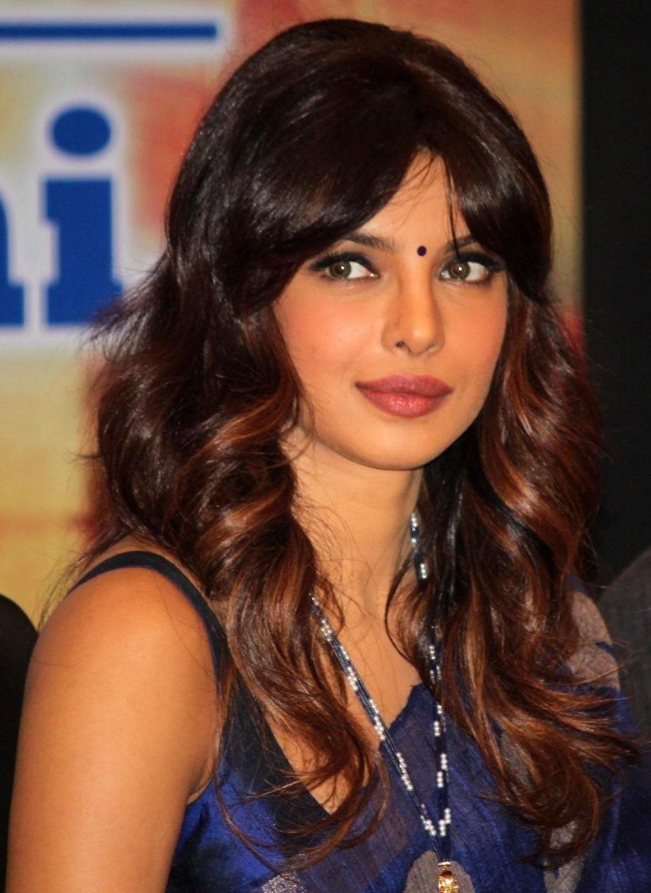 female indian celebrity hairstyles - wavy haircut