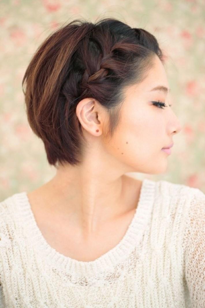 10 Braided Hairstyles For Short Hair   Wedding Ideas   Short Braids pertaining to Asian Hairstyles Short Hair