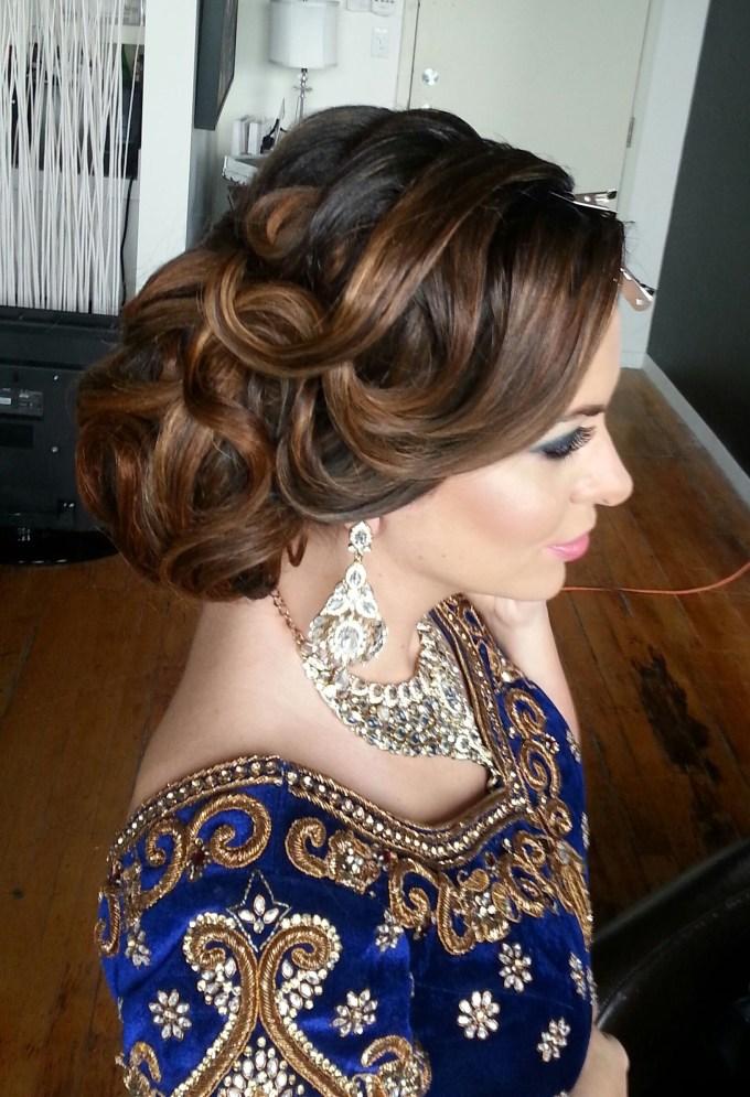 16 Glamorous Indian Wedding Hairstyles | Hairstyles | Wedding Guest in Asian Wedding Updo Hairstyles