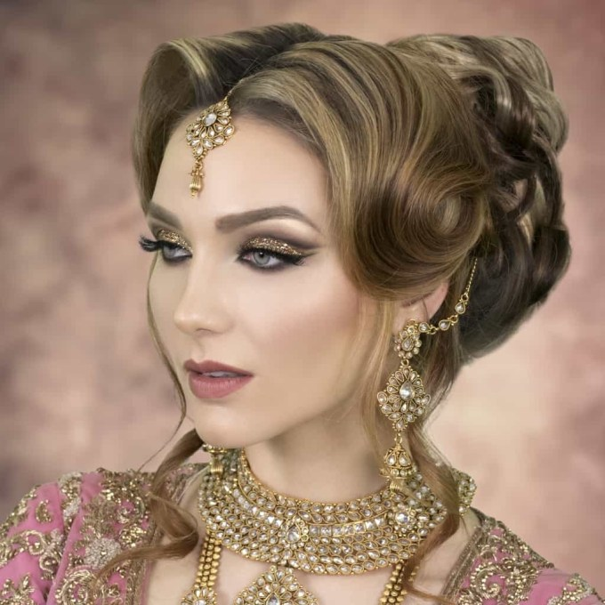 2019 Asian Wedding Hairstyles   London Bridal Hairstylist & Tutor inside Asian Hairstyles For Wedding Party