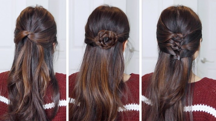 3 Easy Half Up Half Down Hairstyles | Hair Tutorial - Youtube with regard to Asian Half Up Hairstyles