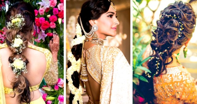 30 Best Indian Bridal Hairstyles Trending This Wedding Season! - Blog intended for South Asian Wedding Hairstyles
