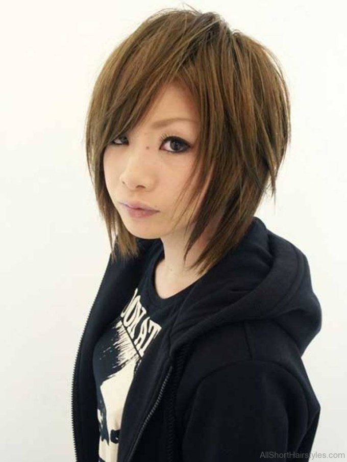 75 Appealing Short Side Swept Haircuts For Girls regarding Asian Layered Hair With Bangs
