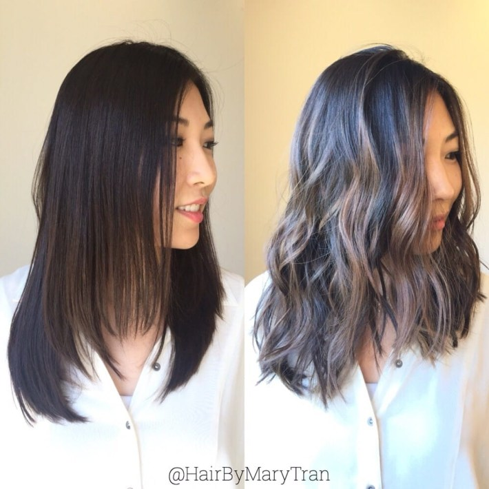 Ashy Brown Highlights On Dark Asian Hair - Yelp for Asian Hairstyles With Highlights