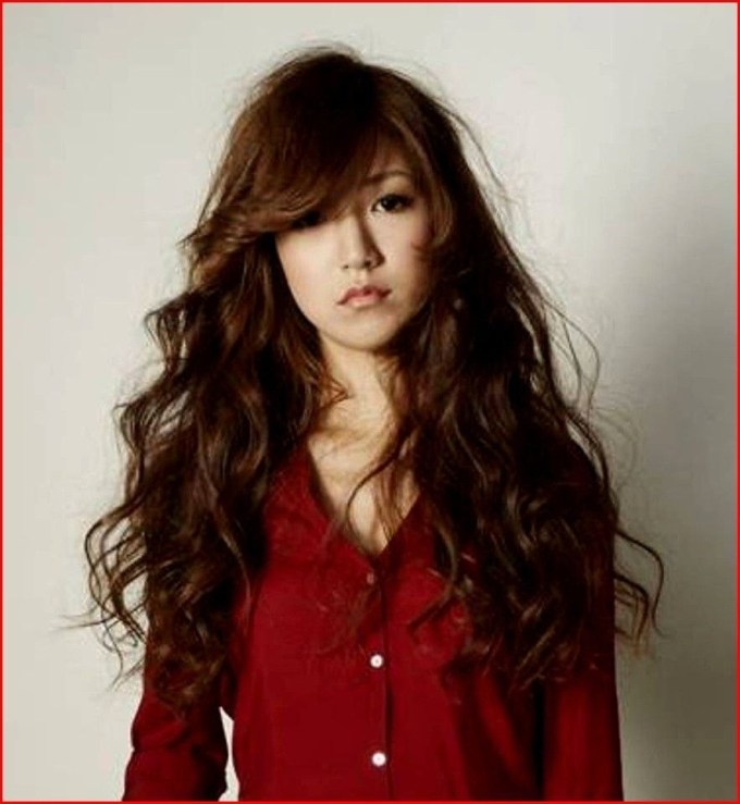 Asian Long Curly Hairstyles #hair #hairstyles #easyhairstyles pertaining to Asian Long Curly Hairstyles