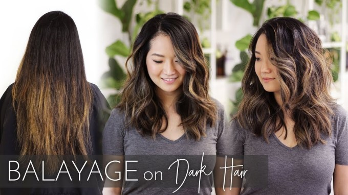 Balayage On Dark Hair | Foilayage Technique On Black Asian Hair with regard to Very best Asian Hairstyles With Highlights