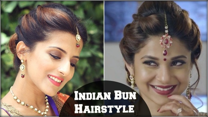 Beyhadh- Jennifer Winget's Easy Bun Hairstyle For Indian Wedding Occasion &  Party For Medium Hair regarding Bun Hairstyle For Indian Marriage