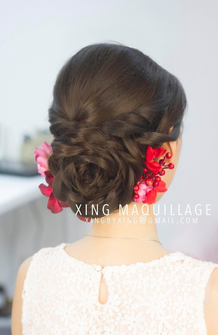Braids, Up-Do, Bun, Asian, Wedding, Hair, Chinese | Hair In 2019 in Superb Prom Hairstyles For Asian Hair