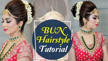 Bun Hairstyle Tutorial | Step By Step Indian Bridal Hairstyle Tutorial  Video | Krushhh By Konica with regard to Bun Hairstyle For Indian Bride