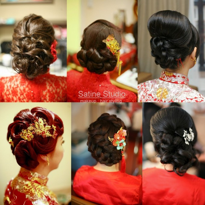 Chinese Wedding Hairstyles Satinestudio Bridal Updo, Toronto inside Best Asian Wedding Hairstyles For Medium Hair