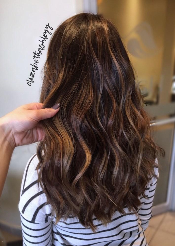 Classic Balayage On Asian Hair | Low Maintence Balayage Highlight in Asian Hair With Caramel Highlights