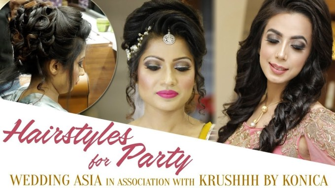 Easy Hairstyles For Party   Party Hair Style Tutorial Video   Best with Asian Hairstyles For Wedding Party