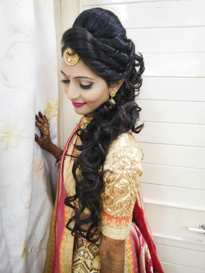Hair Styles   Cotton Panels In 2019   Wedding Hairstyles, Indian inside Bridal Hairstyle In Indian Style